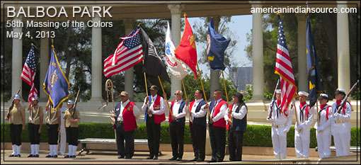 MASSING OF THE COLORS, BALBOA PARK, SAN DIEGO, CALIFORNIA