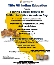 CALIFORNIA NATIVE AMERICAN DAY