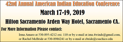 42ND ANNUAL AMERICAN INDIAN EDUCATION CONFERENCE March 17-19, 2019