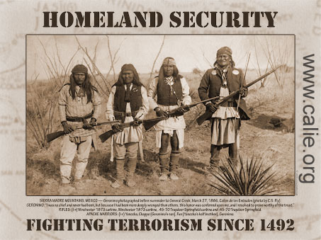 Homeland Security Chief on Geronimo Famous Indian Warrior  Homeland Security Poster For Sale