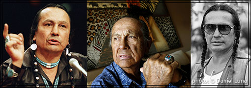 RUSSELL MEANS Oglala Lakota Sioux tribe, Pine Ridge Indian