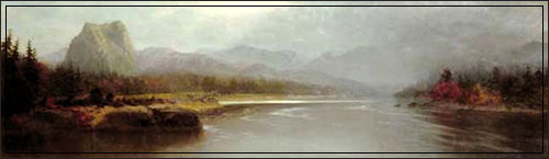 Columbia River, Cascade Mountains, Oregon (1876) by Vincent Colyer (Wikipedia)