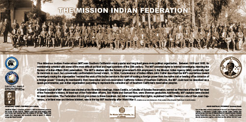MISSION INDIAN FEDERATION POSTER