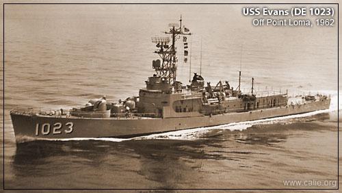 USS EVANS DE 1023