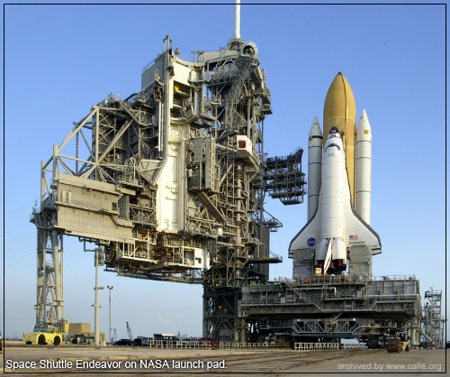 ENDEAVOR ON LAUNCH PAD