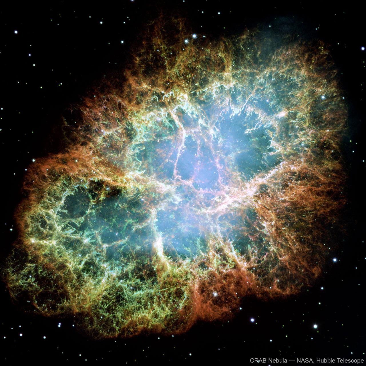 High resolution crab nebula space image loading